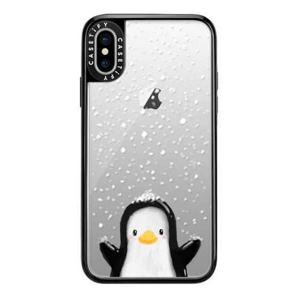 Casetify スマホケース・テックアクセサリー Casetify iphone Gripケース♪Cute penguin in snow♪(6)