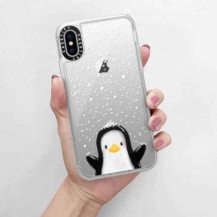 Casetify スマホケース・テックアクセサリー Casetify iphone Gripケース♪Cute penguin in snow♪(13)