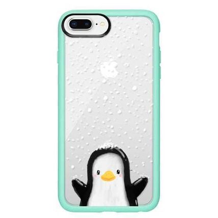 Casetify スマホケース・テックアクセサリー Casetify iphone Gripケース♪Cute penguin in snow♪(15)