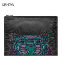 New▼Kenzo▼Nylon Tiger Embroidered クラッチバッグ