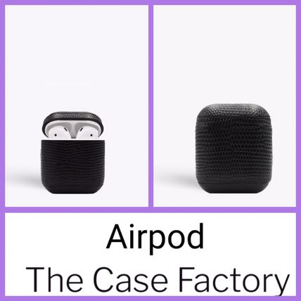THE CASE FACTORY スマホケース・テックアクセサリー The Case Factory★AirPodリザードブラック★iPhone11