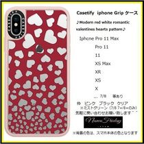 Casetify iphone Gripケース♪Modern red white romantic...♪