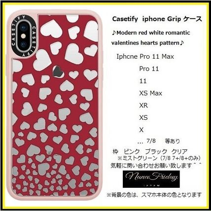 Casetify スマホケース・テックアクセサリー Casetify iphone Gripケース♪Modern red white romantic...♪