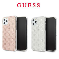 Guess (ゲス) iPhone 11 Pro Pro Max ケース ピンク グレー