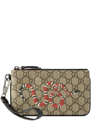 GUCCI スマホケース・テックアクセサリー 関税込み◆GG Supreme snake print iPhone pouch(2)