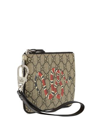 GUCCI スマホケース・テックアクセサリー 関税込み◆GG Supreme snake print iPhone pouch(4)