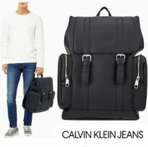 CALVIN KLEIN JEANS MICRO PEBBLE TOP FLAP バックパック BLACK