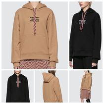 [Burberry] パーカー Embroidered Logo Cotton Oversized Hoodie