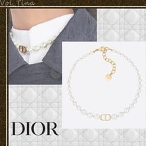 "Dior◆""30 MONTAIGNE"" ビーズ メタル チョーカー ネックレス"