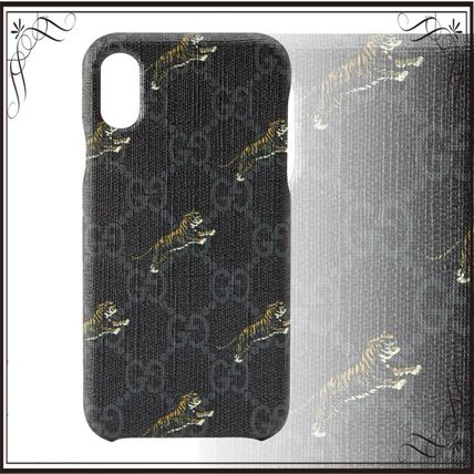 GUCCI スマホケース・テックアクセサリー 関税込み◆GG Supreme tigers iPhone X/XS case