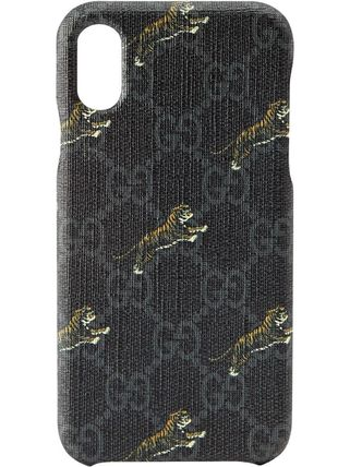 GUCCI スマホケース・テックアクセサリー 関税込み◆GG Supreme tigers iPhone X/XS case(2)