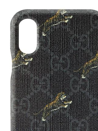 GUCCI スマホケース・テックアクセサリー 関税込み◆GG Supreme tigers iPhone X/XS case(4)