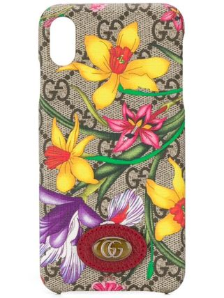 GUCCI スマホケース・テックアクセサリー 関税込み◆Ophidia GG Flora iPhone X case(2)