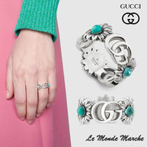 【GUCCI】Double G flower ring★ダブル G フラワー リング