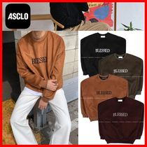 【ASCLOエジュクロ】★Double M Blessed Suede Sweat Shirt★4色