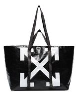 ◎OFF-WHITE◎ NEW COMMERCIAL TOTE BAG ポリエチレンバッグ 黒