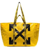 OFF-WHITE!NEW COMMERCIAL TOTE BAG ポリエチレンバッグ 黄色