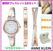 ANNE KLEIN ☆スワロフスキー☆腕時計ブレスレット3点 箱入り♪