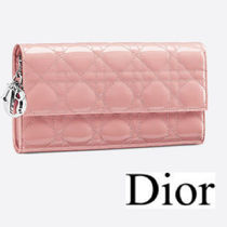 DIOR◆LADY DIOR CHAIN WALLET ROSE◆