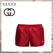 2019AW 新作【GUCCI】GGビーアップリケスイムショーツ レッド