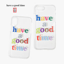 [have a good time] Logo iPhone Case X / Xs (関税送料込)