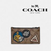 限定★STAR WARS X COACH ZIP CARD CASE IN SIGNATURE F89056