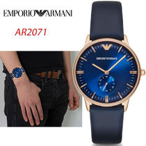 特価!Emporio Armani Men's Rose Gold Plated Blue Watch AR2071
