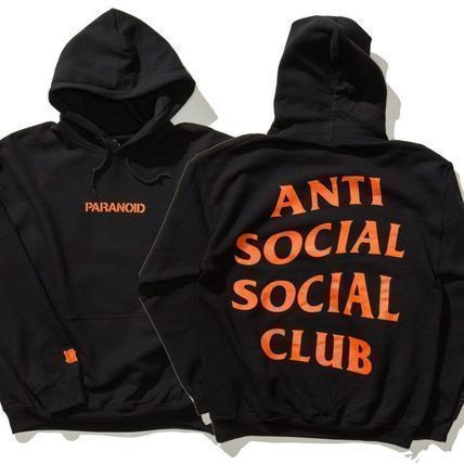 Men Women Anti Social Social Club Undefeated Paranoid Hoodie Jacket Sweater ES.