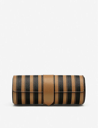 SMYTHSON スーツケース 関税込み◆Panama striped leather travel watch roll(2)