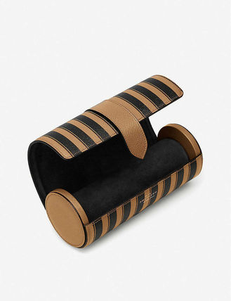 SMYTHSON スーツケース 関税込み◆Panama striped leather travel watch roll(3)