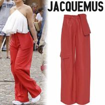 【Jacquemus】カイリージェンナー愛用★ワイドレッグ パンツ Red