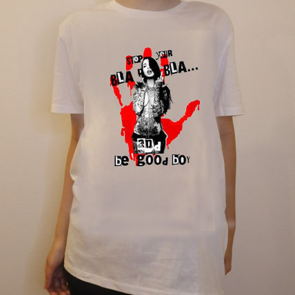 NO COMMENT PARIS Tシャツ・カットソー JAPAN LIMITEDモデル!!★NO COMMENT PARIS★ red hand print