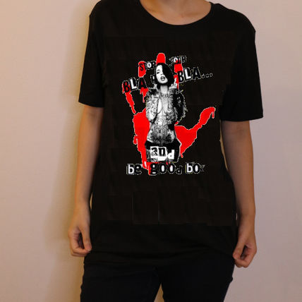 NO COMMENT PARIS Tシャツ・カットソー JAPAN LIMITEDモデル!!★NO COMMENT PARIS★ red hand print(2)