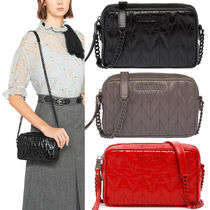 MM1110 SHINY QUILTED LEATHER CROSSBODY BAG