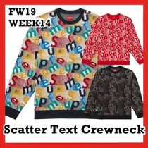 Supreme Scatter Text Crewneck AW FW 19 WEEK 14 2019