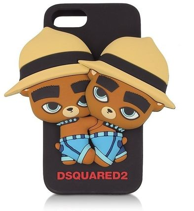 D SQUARED2 スマホケース・テックアクセサリー D SQUARED2☆Black Silicone iPhone 7 Cover カバー 国内発送