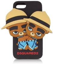 D SQUARED2☆Black Silicone iPhone 7 Cover カバー 国内発送