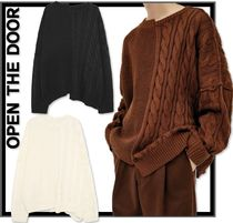 日本未入荷★OPEN THE DOOR HALF-AND-HALF CABLE KNIT★3色