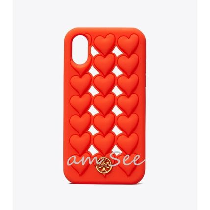 Tory Burch スマホケース・テックアクセサリー 【TORY BURCH】HEARTS SILICONE iPhone X/XS ケース(2)
