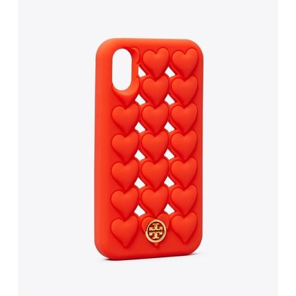 Tory Burch スマホケース・テックアクセサリー 【TORY BURCH】HEARTS SILICONE iPhone X/XS ケース(3)