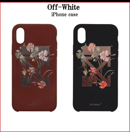 Off-White スマホケース・テックアクセサリー [関税送料込]Off-White Flowers iPhone X Case