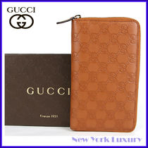 GUCCI★素敵!Brown Guccissima Leather Zip Around Wallet