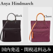 Anya Hindmarch ◇ Nylon Tote with Bungee Handles