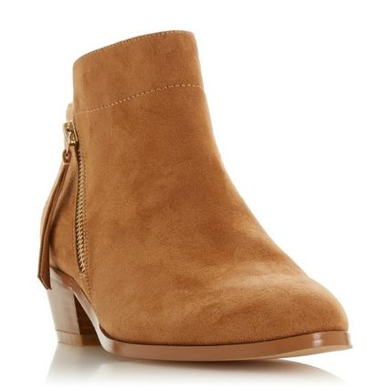 Dune LONDON ミドルブーツ 【Dune LONDON】Pedrine - Tan Stacked Heel Boot(2)