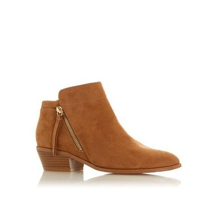 Dune LONDON ミドルブーツ 【Dune LONDON】Pedrine - Tan Stacked Heel Boot(3)