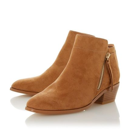 Dune LONDON ミドルブーツ 【Dune LONDON】Pedrine - Tan Stacked Heel Boot(5)