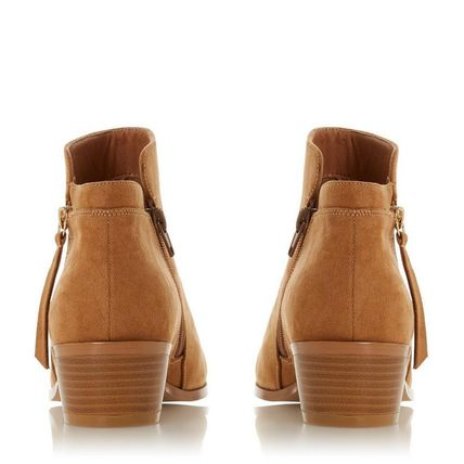 Dune LONDON ミドルブーツ 【Dune LONDON】Pedrine - Tan Stacked Heel Boot(7)