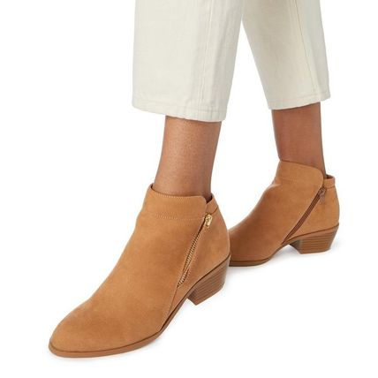 Dune LONDON ミドルブーツ 【Dune LONDON】Pedrine - Tan Stacked Heel Boot(8)