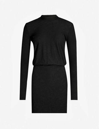 JAMES PERSE ドレス-ロング 関税込み◆Blouson-sleeves bodycon stretch-jersey midi dress(2)