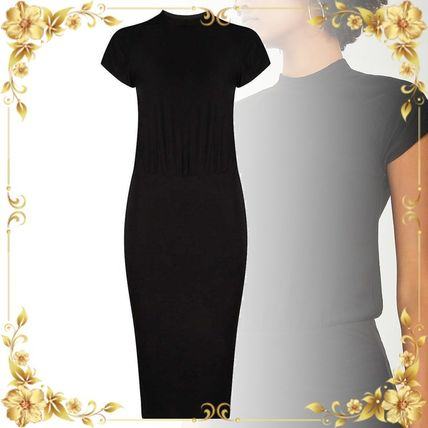 JAMES PERSE ドレス-ロング 関税込み◆Elasticated-waist stretch-cotton dress